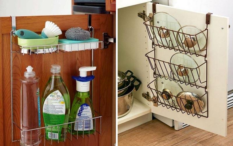 Удобные места хранения на кухне - хранение на дверцах