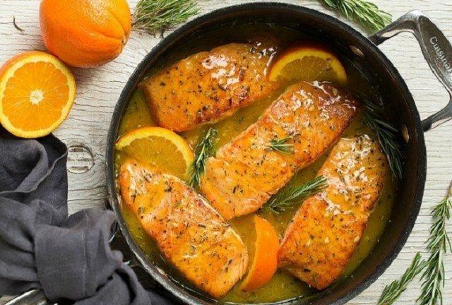 Рыба в апельсиновой заливке