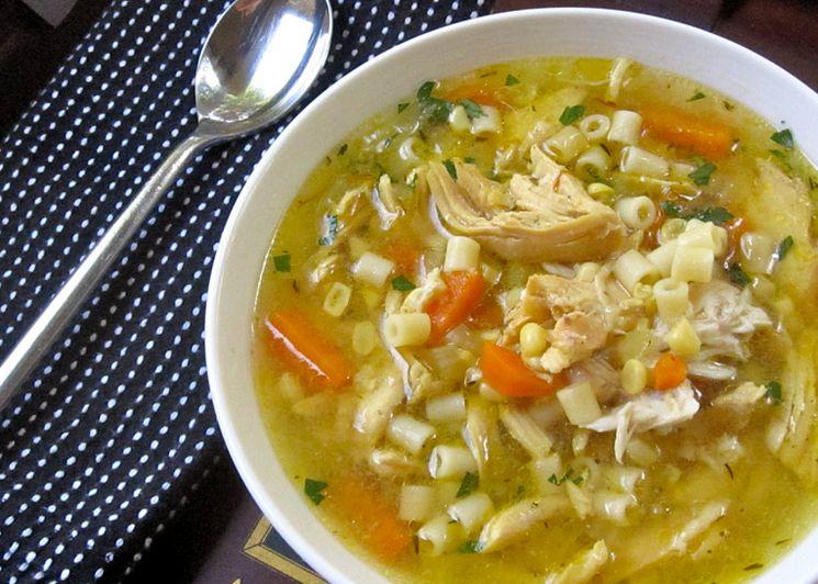 Рецепт куриного супа с макаронами