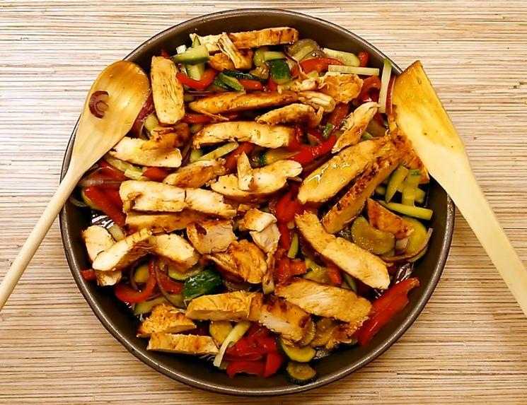 Рецепт салат с куриной грудкой и овощами